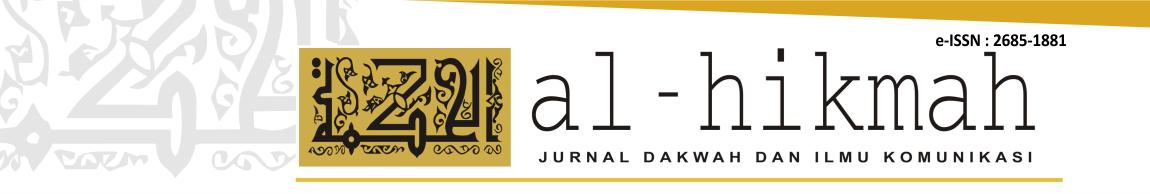 Al Hikmah : Jurnal Dakwah dan Ilmu Komunikasi
